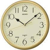 CASIO 手錶專賣店 SEIKO 精工 掛鐘專賣店 QXA747G 黃面黑字掛鐘 金框黑字掛鐘 礦石鏡面 28公分