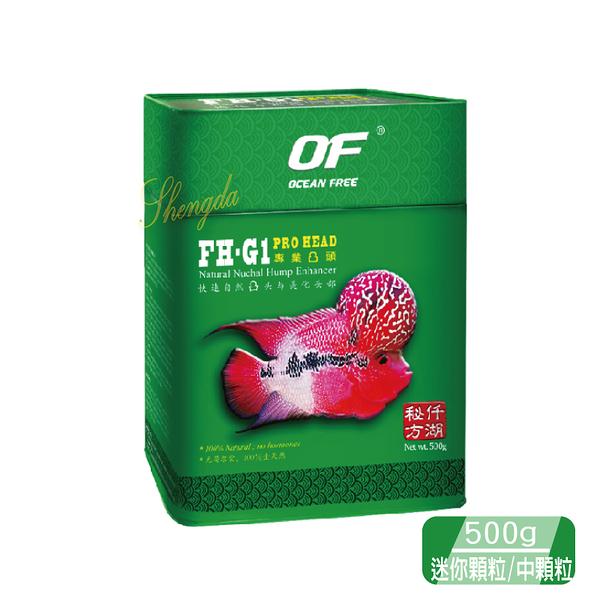 《新加坡仟湖》 FH-G1 專業羅漢魚飼料 500g 迷你顆粒/中顆粒