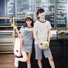 情侶套裝 短袖T恤+短褲/吊帶裙 條紋印花 【Lovers】