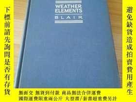 二手書博民逛書店民國原版罕見外文 weather elementsY23158 本社 本社