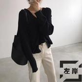 現貨 韓版簡約休閒側背包水桶包百搭通勤斜挎子【左岸男裝】