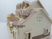 木制手工製作房子小屋子成人創意房屋玩具拼裝建築模型屋別墅月光節88折