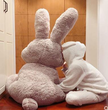 美國大熊兔子公仔網紅兔大號布娃娃毛絨玩具玩偶禮品生日禮物女生LX新品