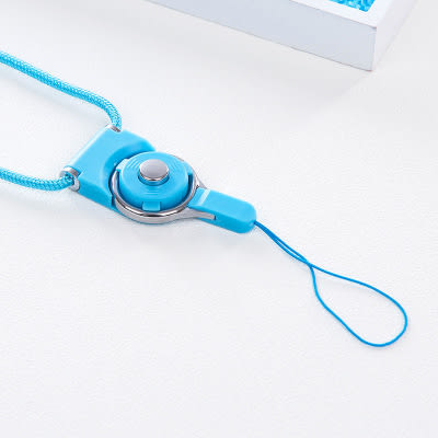 手機掛繩 男女款手機殼掛脖繩掛飾鏈旋轉掛繩胸牌鑰匙防丟長短繩(買一送一)