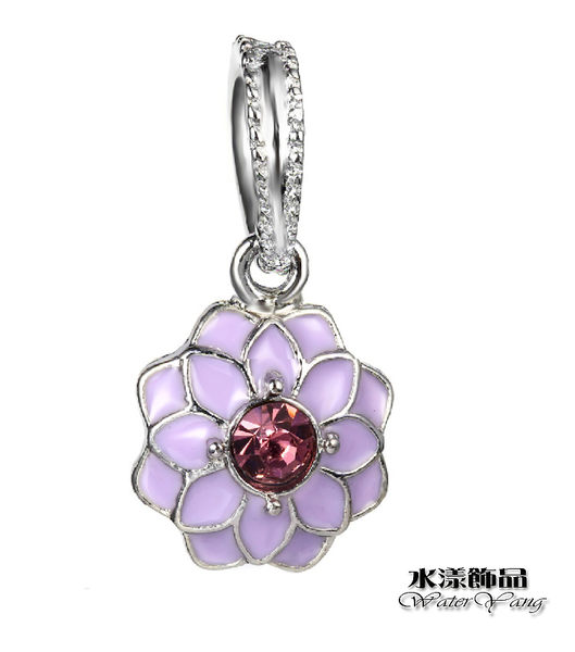 紫色鑽蕊菊花 時尚鑲鑽DIY墜子  DIY串珠配件