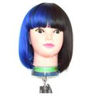 【萬聖節搞怪假髮】雙色 #6367 全頂假髮 (2黑+DF6暗藍) [40610]