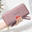 長夾 錢包女新款簡約錢包女長款手腕包雙拉鍊大容量手機錢包卡一體 - 雙十二交換禮物