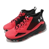 Under Armour 籃球鞋 UA Lockdown 5 紅 黑 高筒 男鞋 避震【ACS】 3023949601