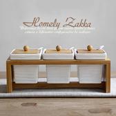 【Homely Zakka】美味食光波紋白瓷竹蓋調味料三罐組-波紋方款