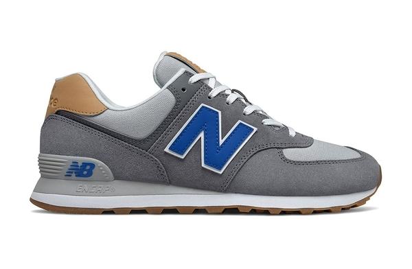 New Balance 男款藍灰色運動休閒鞋-NO.ML574NE2