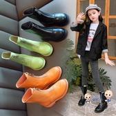 靴子 女童靴子2019年秋冬新款兒童秋季英倫風馬丁靴小女孩中筒加絨皮靴 5色26-37 雙12提前購
