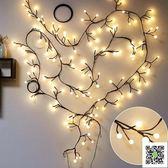 房間臥室裝飾led樹枝藤條彩燈閃燈串燈滿天星星圓球店鋪布置婚慶  聖誕慶免運