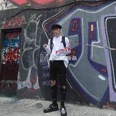 韓國復古紅色字母寬鬆打底長袖t恤 男女  瑪奇哈朵