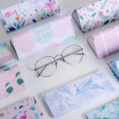 眼鏡盒女正韓小清新復古優雅 男款折疊便攜式可愛眼睛太陽墨鏡盒 免運直出 交換禮物