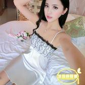 性感睡衣女夏天吊帶睡裙性感內衣極度誘惑情趣絲綢家居服韓版
