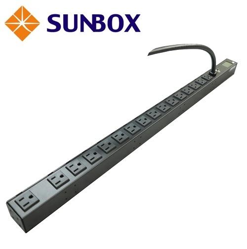 16孔30安培 LCD電錶 機架型排插 (SPM-3012-16L6)