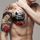紋身貼紙 大花臂 紋身貼 刺青貼紙 彩繪...