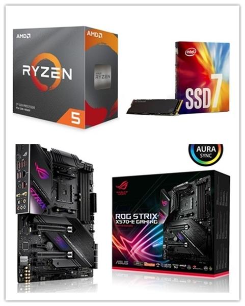 (C+M+S)AMD R5 3600X【6核/12緒】+ 華碩 ROG STRIX X570-E GAMING + Intel 760P 256G M.2 SSD