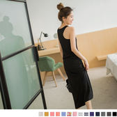 《DA1525》零著輕盈~百搭多色舒適感修身長洋裝 OrangeBear