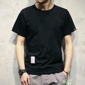 短袖上衣 男士日系潮胖寬鬆短袖T恤夏季青少年圓領加肥加大尺碼潮流體恤衫男