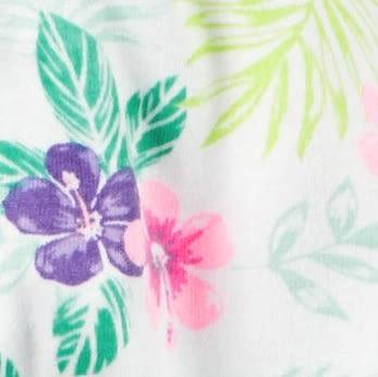 Carter's 連身衣 包屁衣  彩色花朵圖案短袖連身衣 3M 6M