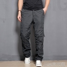 工裝褲冬季保暖加絨加厚防風工裝褲男士長褲多口袋寬鬆休閒褲男加絨褲 快速出貨