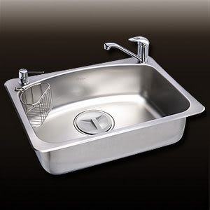 水槽 不鏽鋼-上崁 喜特麗 JT-A6012