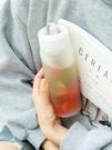 玻璃杯 日系簡約玻璃杯便攜清新森系女學生水杯創意個性潮流高顏值杯子男 晶彩 99免運