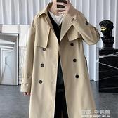 外套男秋冬新款風衣男中長款韓版潮流帥氣英倫風上衣服男披風 雙十二全館免運