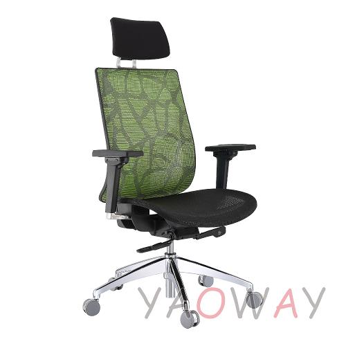 【耀偉】 KTS-1096MTGA自載重高背強力網網椅 (人體工學椅/辦公椅/電腦椅/主管椅)