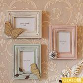 法式鄉村美式做舊木質6寸相框婚房照片墻家居裝飾品擺件