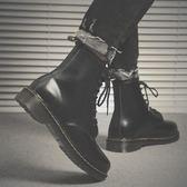 秋冬季馬丁靴男高筒短靴軍靴棉鞋男士雪地靴子英倫潮工裝百搭 全館免運