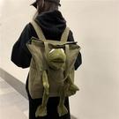 玩偶包 書包女韓版原宿ulzzang高中大學生個性百搭後背包潮青蛙玩偶背包