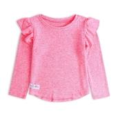 Gap女幼童 甜美風格荷葉邊飾袖口圓領上衣497472-淺色粉