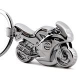 鑰匙圈 帶LED燈摩托車鑰匙扣汽車鑰匙鏈掛件金屬