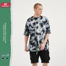 2021夏季歐美寬鬆短袖T恤 慵懶風不規則紮染嘻哈體恤T恤 高街潮流原創T恤 男生小眾設計T恤