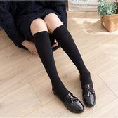 黑色長襪子女中筒襪秋冬款韓版學院風日繫加厚半截長筒小腿及膝襪