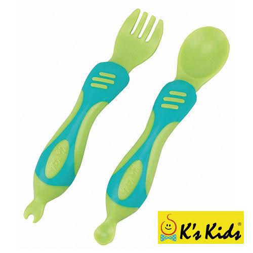 【奇買親子購物網】K's Kids Chunky Spoon & Fork Set 奇智奇思湯叉組
