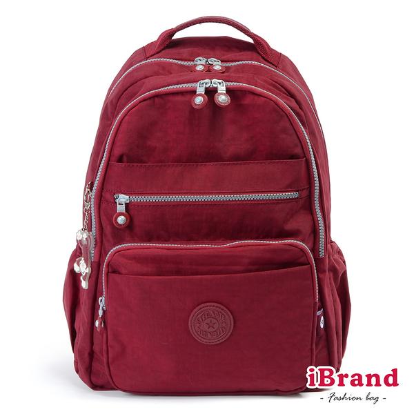【i Brand】經典百搭超輕盈多口袋後背包-魅力紅 TGT-1604-R