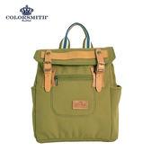 【COLORSMITH】RB.輕巧方形質感後背包-草綠色.RB1325-OV-XS