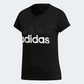 Adidas ESS LIN SLIM T [B45786] 女 運動 休閒 圓領 短袖 上衣 舒適 棉T 愛迪達 黑