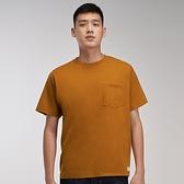 Levis Red 工裝手稿風復刻再造 男款 短袖T恤 / 寬鬆休閒版型 / 杏仁棕