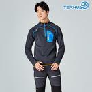 【西班牙TERNUA】男Power Stretch半門襟彈性保暖中層衣1206560 / 城市綠洲(Polartec、刷毛、透氣、快乾)