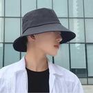 大檐帽子男夏款漁夫帽日系潮牌嘻哈ins百搭大頭圍太陽防曬遮陽帽一米陽光