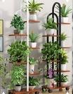 花架 花架子置物架花盆架客廳落地式可移動花架多層鐵藝綠蘿花盆架室內
