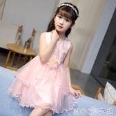童裝公主裙女童蓬蓬洋裝夏裝 新款中大兒童女孩洋氣裙子禮服 moon衣櫥