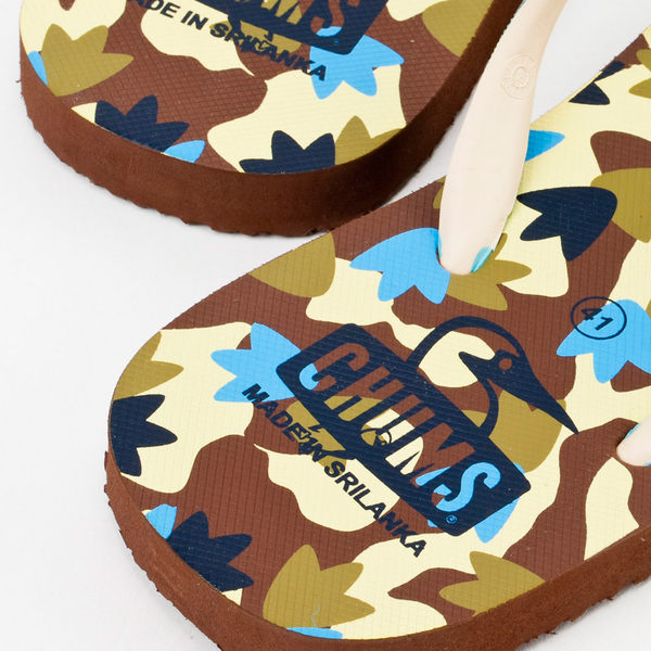 【絕版品】CHUMS 日本 海灘拖鞋 夾腳拖 腳印迷彩 CH631006Z031