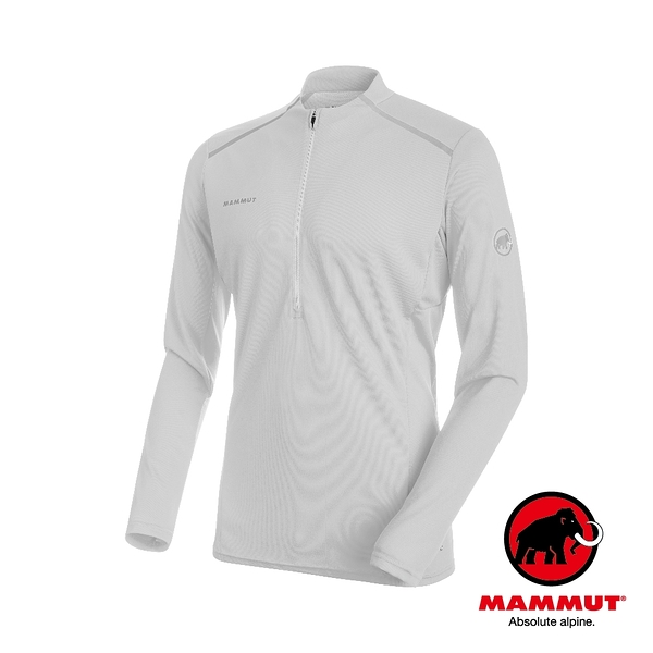 Mammut 長毛象 Atacazo Light Zip Pull Men 長袖排汗衣 男款 大理石白 #1016-00010
