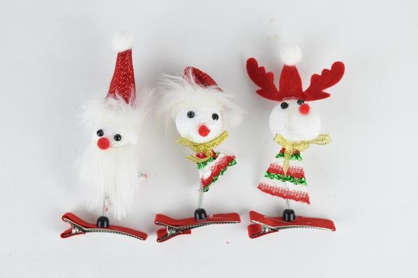 節慶王【X412387】聖誕造型髮夾(隨機出貨),聖誕節/派對用品/舞會道具/cosplay/角色扮演