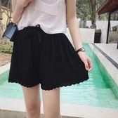 褲裙 短褲女夏雪紡寬鬆顯瘦高腰chic休閒裙褲熱褲子洋裝  瑪麗蘇